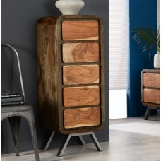 Aspen Industrial Chest of 5  Drawers