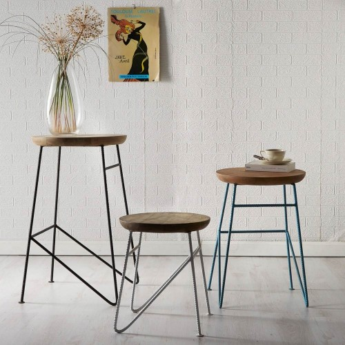 Aspen Industrial Round Set of Stools