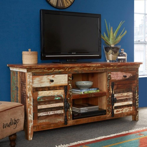 Coastal Reclaimed Industrial Media TV Unit