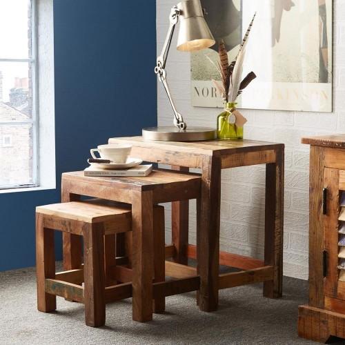 Coastal Reclaimed Industrial Table Nest