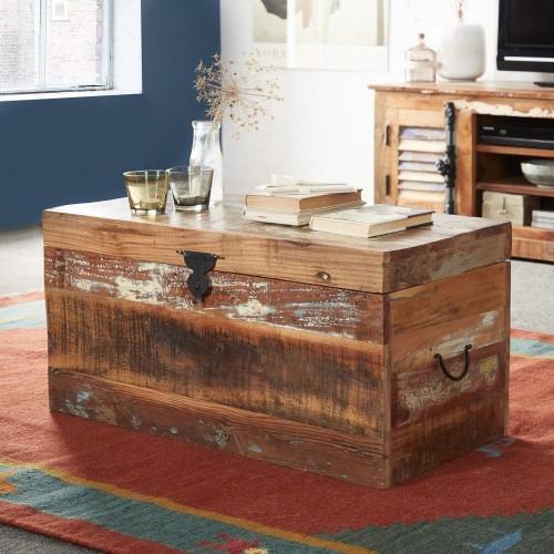Coastal Reclaimed Industrial Wood Trunk Box