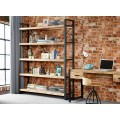 Cosmo Industrial Slim Bookcase