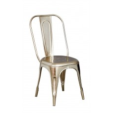 Cosmo Industrial Silver Metal Chair