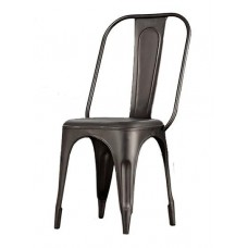 Cosmo Industrial Grey Metal Chair