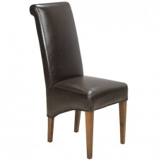 Cube Sheesham Industrial Leather Chair