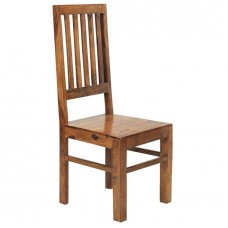 Cube Sheesham Industrial Dining Chair