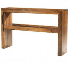 Cube Sheesham Industrial Console Table