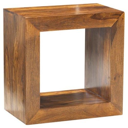 Cube Sheesham Industrial Storage Cube