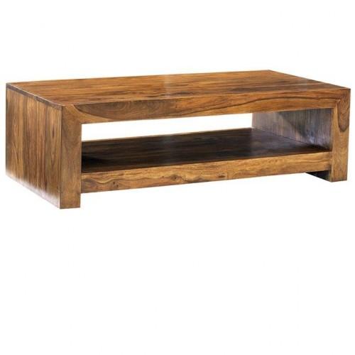 Cube Sheesham Industrial Table