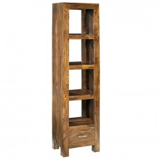Cube Sheesham Industrial Slim Bookcase