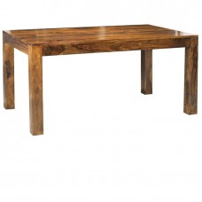 Cube Sheesham Industrial Dining Table