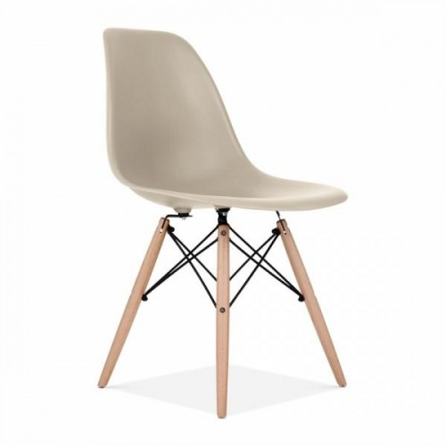 Eames Inspired DSW Dining Chair in Beige