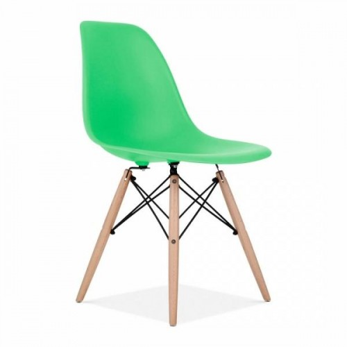 Eames Inspired DSW Dining Chair in Bright Green