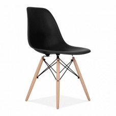 Eames Inspired DSW Dining Chair in Black
