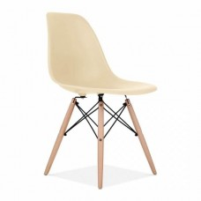 Eames Inspired DSW Dining Chair in Cream