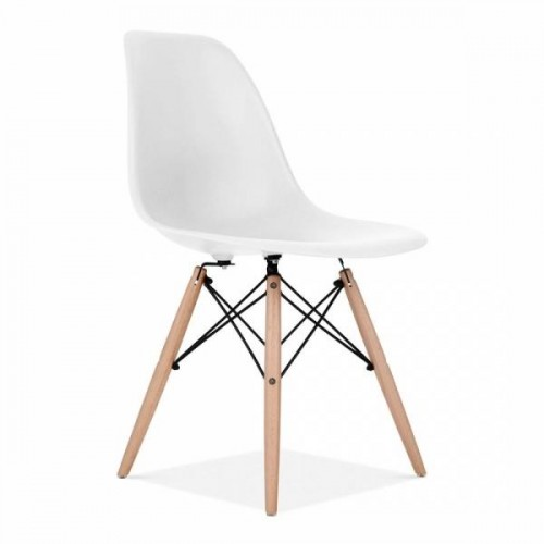 Eames Inspired DSW Dining Chair in Off White