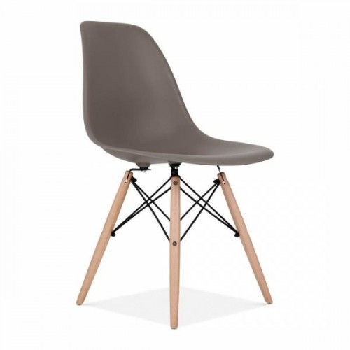 Eames Inspired DSW Dining Chair in Warm Grey