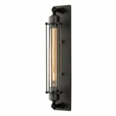 Edison Black Metal Wall Light