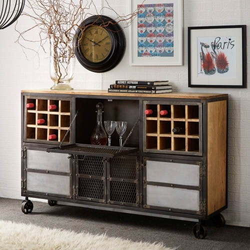 Evoke Industrial Bar Cabinet