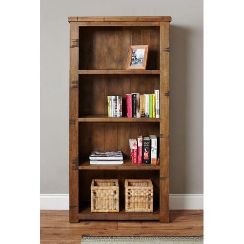 Heyford Industrial Style Large Oak Bookcase