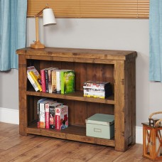 Heyford Oak Industrial Style Low Bookcase