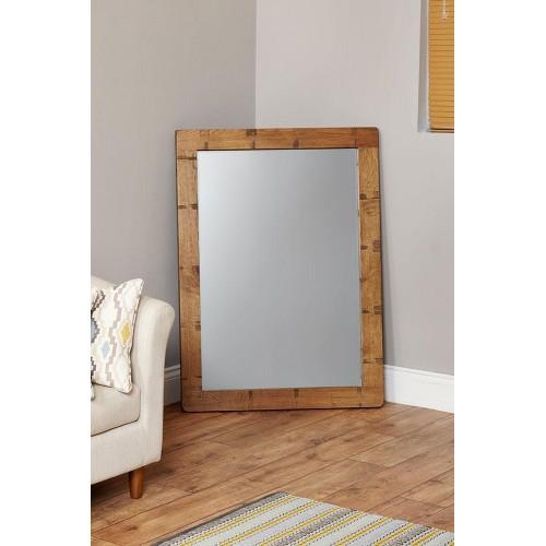 Heyford Oak Industrial Style Wall Mirror