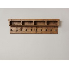 Heyford Oak Industrial Style Wall Coat Rack