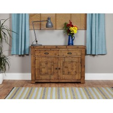 Heyford Oak Industrial Style Small Sideboard