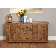Heyford Oak Industrial Style Large Sideboard
