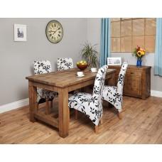 Heyford Oak Industrial Style Dining Table