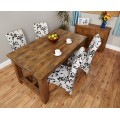 Heyford Oak Industrial Style Nest of Tables