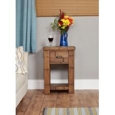 Heyford Oak Industrial Style Lamp Table