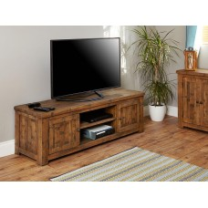 Heyford Oak Industrial Style Widescreen TV Cabinet
