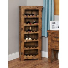 Heyford Oak Industrial Style Wine Rack