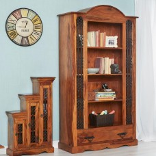 Industrial Style Jali Large Bookcase
