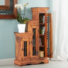 Industrial Style Jali Step CD Cabinet