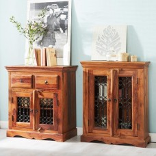 Industrial Style Jali DVD Cabinet