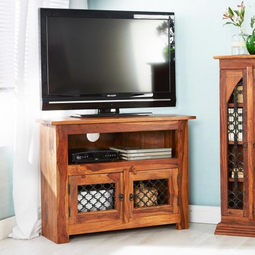 Industrial Style Jali TV Unit