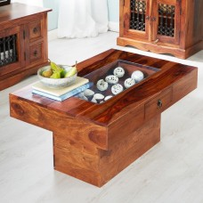 Industrial Style Jali Pebble Coffee Table