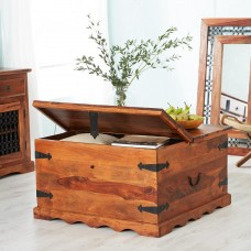 Industrial Style Jali Coffee Table Trunk