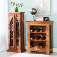 Industrial Style Jali Wine Rack