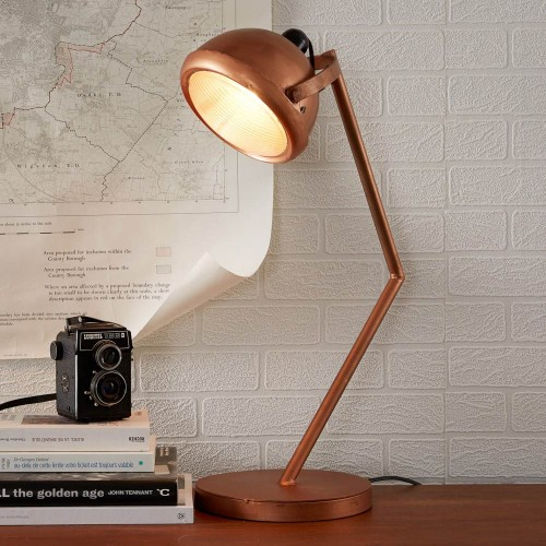 Industrial Style Copper Table Lamp