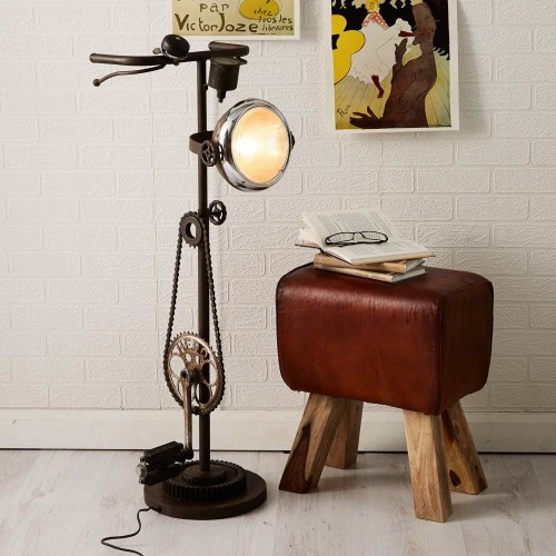 Industrial Style Iron Cycle Floor Lamp