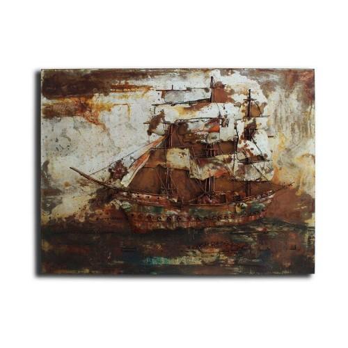 Tall Ship Metal Wall Art