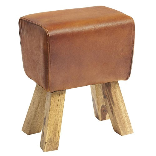 Turn Leather Industrial Stool
