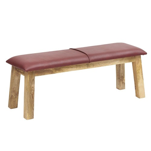 Turn Leather Industrial Bench