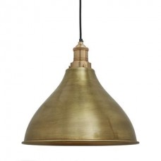 Brooklyn Vintage Metal Cone Pendant Light - Brass - 12 inch
