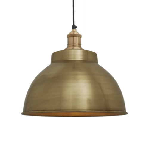 Brooklyn Vintage Metal Dome Pendant Light - Brass - 13 inch