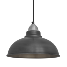 Old Factory Vintage Pendant Light - Dark Grey Pewter - 12 inch