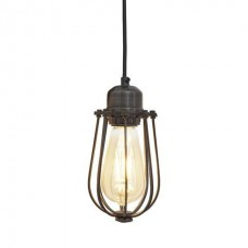 Orlando Vintage Cage Pendant Light - Pewter
